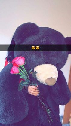 Big Teddy Bear, Teddy Girl, Tumblr Relationship, Cute Relationships, Costco Bear, Cute Baby Videos, Cute Birthday Gift, Snapchat Picture, Girly Pictures
