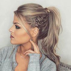 High Pony & Twist Detail... by @valeriepac #behindthechair #ponytail #braids #highponytail