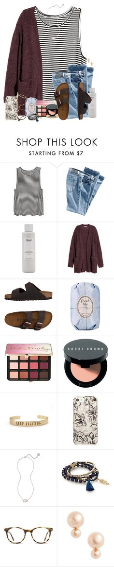 """Escape;"" by southernstruttin ❤ liked on Polyvore featuring H&M, Ouai, Birkenstock, Fresh, Sephora Collection, Bobbi Brown Cosmetics, Vera Bradley, Kendra Scott, Simons and GlassesUSA"