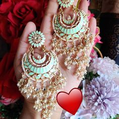 🌟 To buy this dm or whatsapp Indian Earrings, Chokers, Bangles, Drop Earrings, Bag, Accessories, Stuff To Buy, Instagram, Wedding Bells