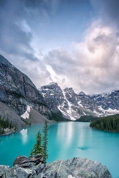 Cloud Burst - Moraine Lake, Canada by Jon Glaser