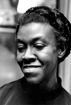 Poet Gwendolyn Elizabeth Brooks (Jun 7, 1917 – Dec 3, 2000) American poet.  Won Pulitzer Prize for Poetry 1950; appointed Poet Laureate of Illinois 1968; appointed Poet Laureate Consultant in Poetry to the Library of Congress in 1985.  ~Repinned Via Roy Kenagy