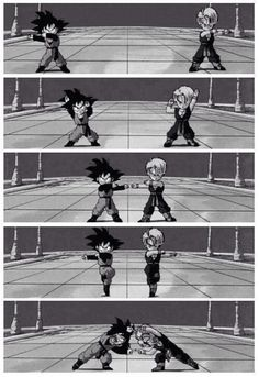 Fusion dance with Trunks and Goten