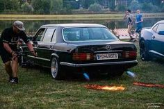 Mercedes w126 fire exhaust