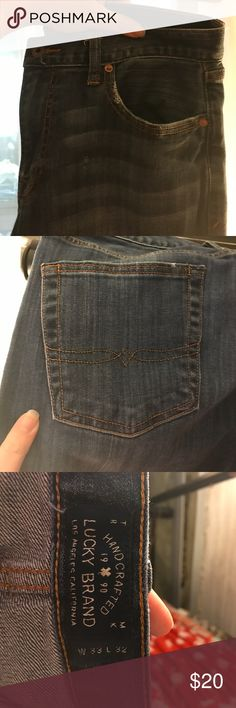 Lucky Brand 363 Vintage Straight Full disclosure- purchased on Poshmark and did not fit so this can now be your treasure! Super soft denim from Lucky Brand with whisker wash. Just want these jeans to have a home they deserve :) Lucky Brand Jeans Straight Leg