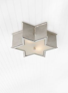 Visual Comfort AH Alexa Hampton Modern Sophia Small Flush Mount in Polished Nickel with Frosted Glass Architectural Scale, Gold Hill, Visual Comfort Lighting, Alexa Hampton, Circa Lighting, Luxury Lighting, Modern Colors, Shades Of Black, Beautiful Lights