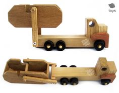 Removable Dump Truck wood natural toy от WoodHandcraft на Etsy