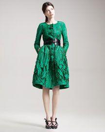 Oscar de la Renta, embroidered coatdress. I WANT IT!