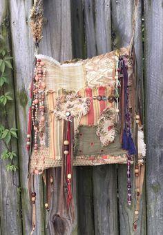 Handmade Carpet Bag Gypsy Patchwork Tapestry & Upholstery Boho Purse B.Joy  | eBay