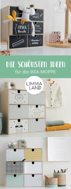 Ideas for the design of the IKEA MOPPE chest of drawers - this time, everything to decorate your . - - Stauraum im Kinderzimmer Ideas for the design of the IKEA MOPPE chest of drawers – this time, everything to decorate your … Ikea Kids, Ikea Children, New Swedish Design, Scandinavian Pattern, Ikea Furniture, Diy For Kids, Kids Bedroom, Room Inspiration, Storage Spaces