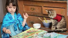 Iris Grace Halmshaw is a five-year-old autistic girl who is unable to speak due to her condition. She is, however, able to communicate through the medium of art.