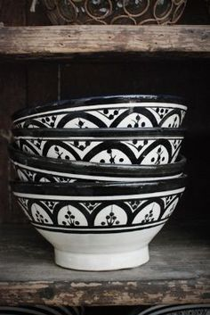 Moroccan bowls form tinekhome are hand painted and a charming addition to the table setting.