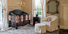 Tan, brown, light pink nursery