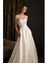 A-linie Elegante Schlichte Brautkleider aus Taft mit Applikation