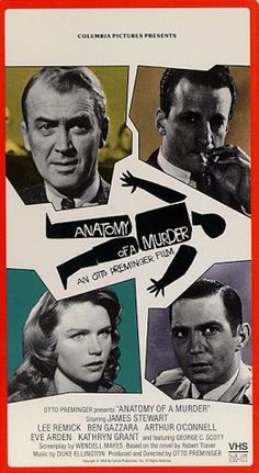 #41 Anatomy of a Murder - feels like picking up a good old fashioned 'whodunnit' crime novel. I bet it's the guy in the bottom right corner. #MoviePosters