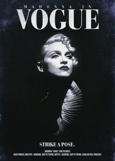 "Movie Poster for Madonna's ""Vogue"""