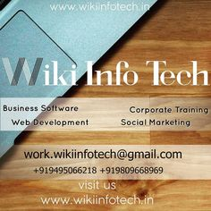 Adding new services!!  Web Development  Business Software  Corporate Training  Social Media Marketing  Contact us or visit our website to learn more. (Link in bio) . Have a great weekend!! . . #wikiinfotech #website #webdesign #webdevelopment  #html #wordpress #java #javascript #js #jquery #seo #softwareengineering #socialmedia #marketing #softwaredeveloper #nowopen #services #insta #weekend #saturday