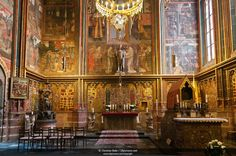 St. Wenceslas chapel, Interior St. Vitus Cathedral, Prague Castle ...