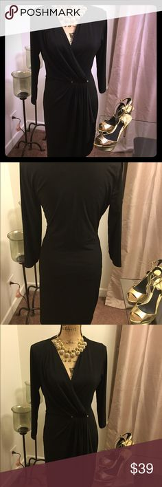 Michael Kors dress Michael Kors dress; waist gather; gold accents; mid length; in great condition. Priced to sell!!! MICHAEL Michael Kors Dresses Midi