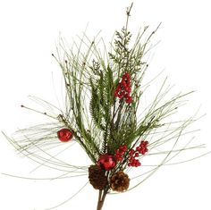 """The Jolly Christmas Shop - Raz 30"""" Red Jingle Bell Pine Christmas Spray F3406936, $7.99 (http://www.thejollychristmasshop.com/raz-30-red-jingle-bell-pine-christmas-spray-f3406936/?page_context=category"""
