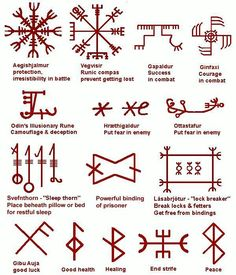 Protection and healing sigils & runes. {Image.}