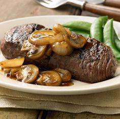 Filete asado a la parrilla con champiñones teriyaki // Grilled Steak with Teriyaki Mushrooms
