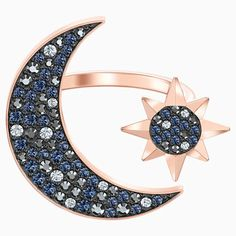 Swarovski Symbolic Moon Ring, Multi-coloured, Rose-gold tone plated | Swarovski.com Swarovski Gifts, Swarovski Ring, Swarovski Crystals, Thumb Rings, Spinner Rings, Jewelry Rings, Plating, Pandora, Jewels