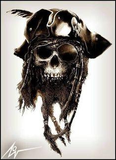 Ideas Tattoo Sleeve Pirate Art Designs For 2019 Tatoo Pirate, Pirate Skull Tattoos, Pirate Art, Pirate Life, Pirate Ships, Pirate Themed Tattoos, Pirate Crafts, Pirate Woman, Totenkopf Tattoos
