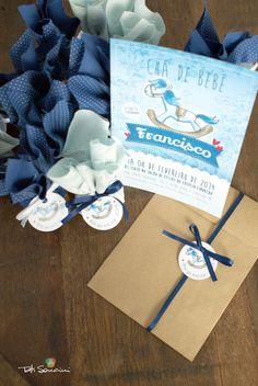 Convite e lembrancinhas personalizados do Chá de bebê do Francisco https://www.facebook.com/tatisoncinidesign