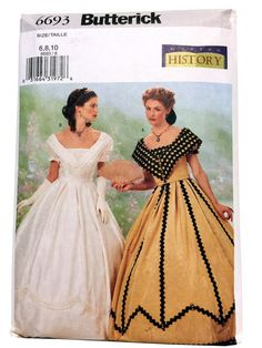 Butterick 6693 Sewing Pattern Civil War Costume by UpstairsAttic