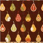 pear fabric brown