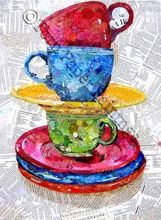 Balance - Torn Paper Paintings by Wanda Edwards