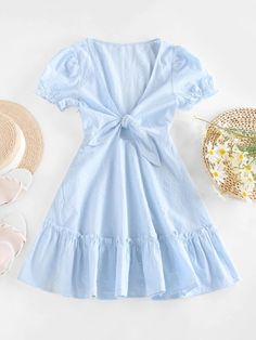 Outfits For Teens, Girl Outfits, Cute Outfits, Cute Casual Dresses, Romper With Skirt, Cute Clothes For Women, Plus Size Lingerie, Two Piece Outfit, Types Of Sleeves