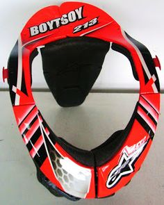 Hand Painted Motocross Neck Brace #117 ~ Helmets4Fun - Hand Painted Helmets