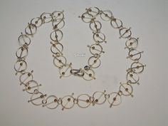 Necklace. 925 Silver. Goldfill beads.