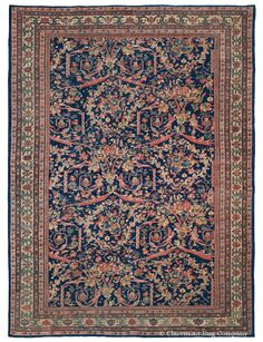 SULTANABAD, WEST CENTRAL PERSIAN, 8′ 3″ X 11′, CIRCA 1875 http://www.claremontrug.com/antique-rugs-information/collecting/claremont-rug-companys-new-acquisition-highlights-antique-persian-rugs/sultanabad-west-central-persian-8-3-x-11-circa-1875/