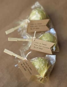50 EcoFriendly Edible Wedding Favors  The Original by LesPopSweets, $120.00