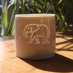 Our New Luna Mini tealight design of an elephant... Made in the Central London Studio by Anna Perring of www.lunalighting.co.uk. Available soon at £15.