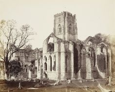 Francis Bedford (1815-94) - Fountains Abbey from the south east, 1854