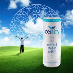 """Zenify, the all-natural stress relief drink, launches in first Rexam 12 oz. SLEEK(R) can in the U.S. to utilize tactile printing technology.   Hmmm  """"elevate serotonin and dopamine levels and reduce stress without drowsiness.""""  Want to try!"""