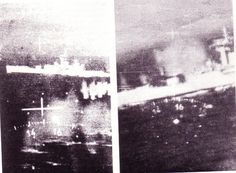 An image from one of the five Argentinian Dagger aircraft. The attack came on the 8th June 1982, when the Plymouth was in the open water of Falkland Sound.