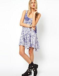 Image 4 ofASOS Swing Dress In China Print