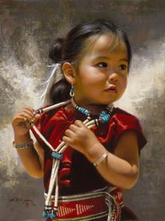 American Indian little girl