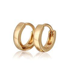 Aliexpress Sale Gold Plated Hoop Earrings For Girls/Children Earring New 2017 Fashion Free Shipping (E18K-82)