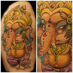 Image result for new school tattoo ganesh                              …