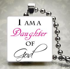 Daughter of God Pendant in Pink by FairysNFlutterbys on Etsy