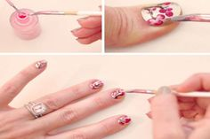Cherry Blossom Nail Art Tutorial 2013