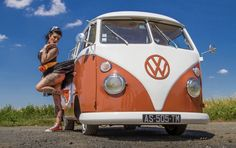 Vw Bus, Vw Camper, Tattoo Girls, Girl Tattoos, Volkswagen Minibus, Bus Girl, T1 T2, S Car, Car Girls