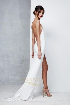 Sheath/Column One-Shoulder Sexy Prom Dress with Split Front – Angrila Dance Dresses, Sexy Dresses, Bridal Dresses, Beautiful Dresses, Evening Dresses, Fashion Dresses, Prom Dresses, Summer Dresses, Pale Yellow Bridesmaid Dresses