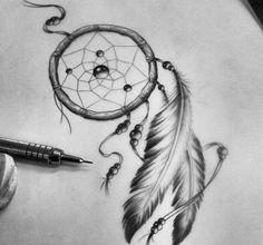 Tatuagem filtro dos sonhos, desenho.